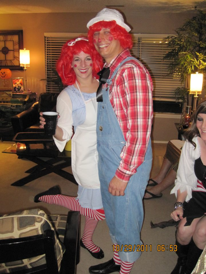 Adult raggedy ann and andy